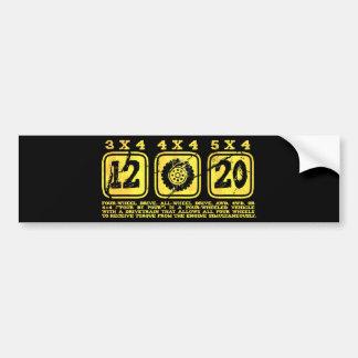 All Wheel Drive (4 By 4) Bumper Sticker