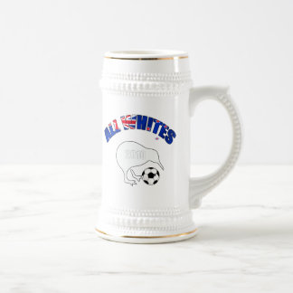 All Whites Kiwi Soccer Football fans gifts Beer Stein