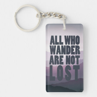 All Who Wander keyring Double-Sided Rectangular Acrylic Key Ring
