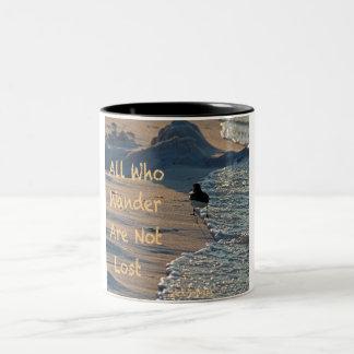 All Who Wander Two-Tone Coffee Mug