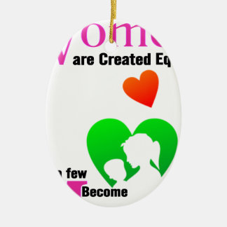All Women Are Created Equal Then a Few Become Moth Ceramic Oval Decoration