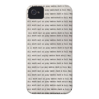 All work and no play iphone 4 4s case