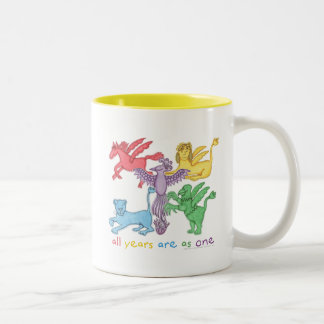 """All Years..."" Two-Tone Mug (Yellow)"
