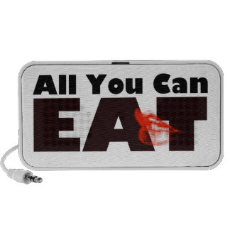 All You Can Eat Doodle Laptop Speakers