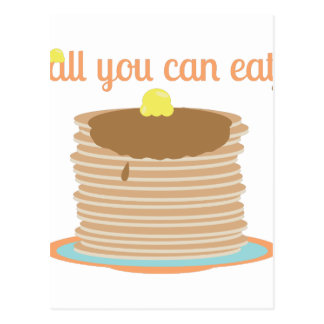 All You Can Eat Postcard