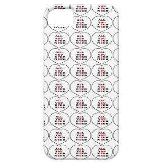All You Ever Need Love in a heart iPhone 5/5S Cover