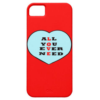 All You Ever Need Love, in a heart, iPhone 5 Cover