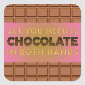 All You Need is Chocolate in Both Hands, sticker