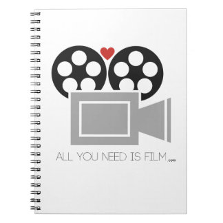 ALL YOU NEED IS FILM .COM NOTEBOOK