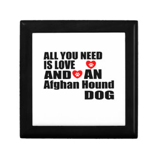 ALL YOU NEED IS LOVE Afghan Hound DOGS DESIGNS Gift Box