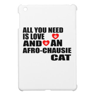 ALL YOU NEED IS LOVE AFRO-CHAUSIE CAT DESIGNS iPad MINI CASE