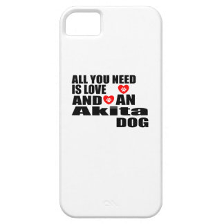 ALL YOU NEED IS LOVE Akita DOGS DESIGNS Barely There iPhone 5 Case