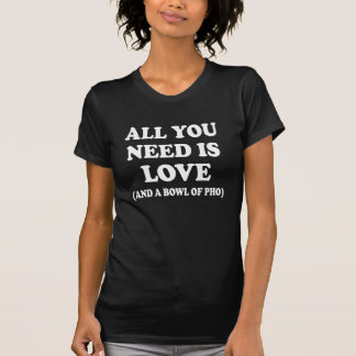 All you need is love and a bowl of Pho funny shirt