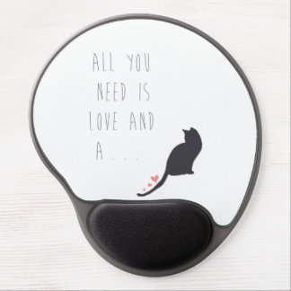 All You Need is Love and a Cat Gel Mouse Pad