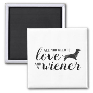 All you need is love and a Dachshund magnet