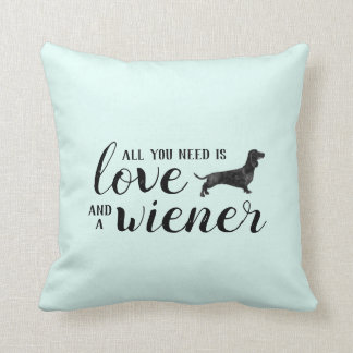 All you need is love and a dachshund square pillow