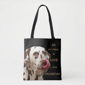 All you need is love... and a dalmatian tote bag