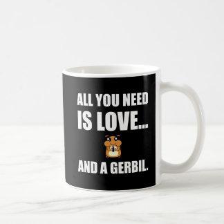 All You Need Is Love And A Gerbil Coffee Mug