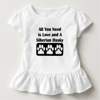 All You Need is Love and A Siberian Husky T Shirt