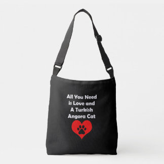 All You Need is Love and A Turkish Angora Cat Crossbody Bag