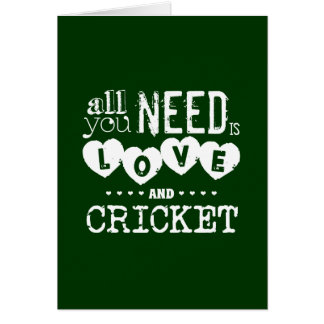 All You Need is Love and Cricket Greeting Card