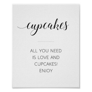 All You Need Is Love And Cupcakes - Alejandra Poster