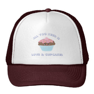 All You Need Is Love And Cupcakes Pastel Colors Cap