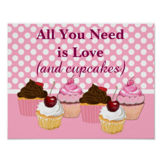 All You Need is Love and Cupcakes Poster