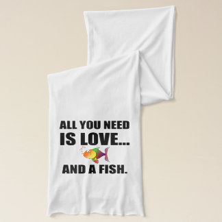 All You Need Is Love And Fish Scarf