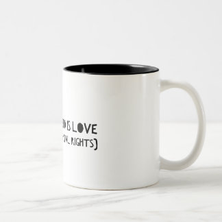 """All you need is love (and fundamental rights) Mug"