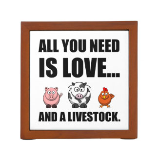 All You Need Is Love And Livestock Desk Organiser