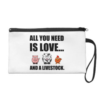 All You Need Is Love And Livestock Wristlet