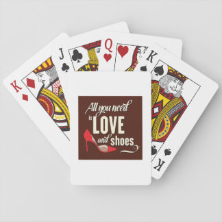 All You Need Is Love And Shoes Playing Cards