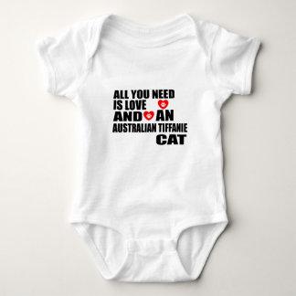 ALL YOU NEED IS LOVE AUSTRALIAN TIFFANIE CAT DESIG BABY BODYSUIT