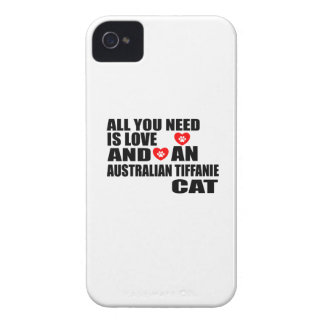 ALL YOU NEED IS LOVE AUSTRALIAN TIFFANIE CAT DESIG iPhone 4 COVER