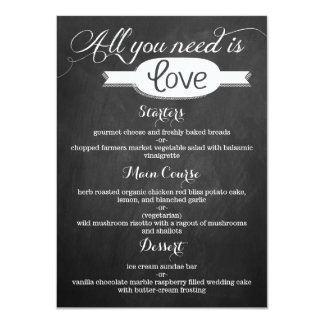 All You Need Is Love Chalkboard Wedding Collection 11 Cm X 16 Cm Invitation Card