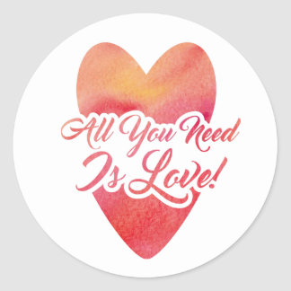 all-you-need-is-love classic round sticker