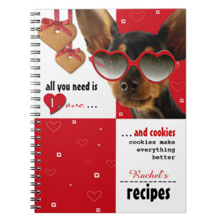 All you need is Love. Custom Gift Recipe Notebooks