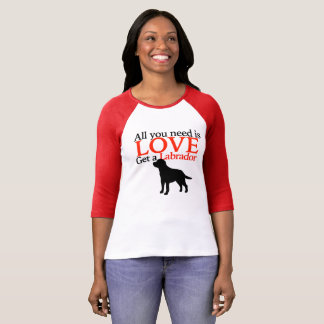 All you need is Love dog 3/4 sleeve T shirt
