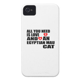 ALL YOU NEED IS LOVE EGYPTIAN MAU CAT DESIGNS Case-Mate iPhone 4 CASE