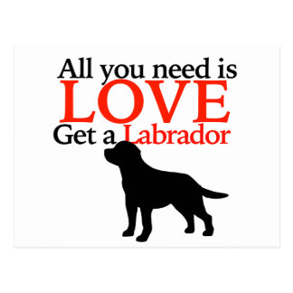 All you need is Love Get a Lab Post Card