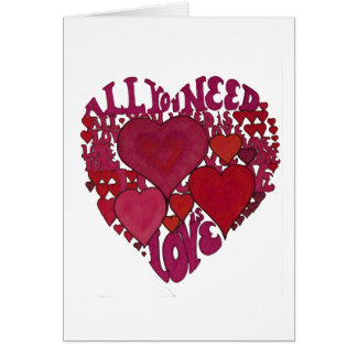 All You Need Is Love Heart Card