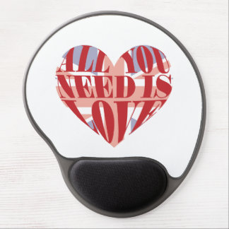 All You Need Is Love Heart Gel Mousepad