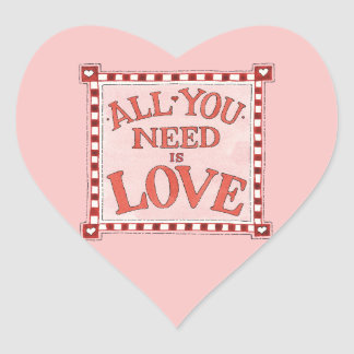 All You Need is Love Heart Sticker