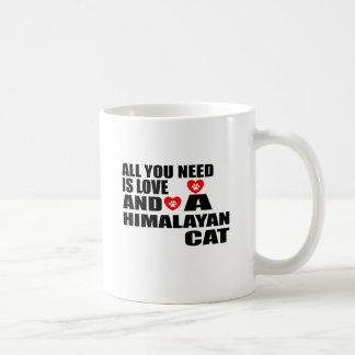 ALL YOU NEED IS LOVE HIMALAYAN CAT DESIGNS COFFEE MUG