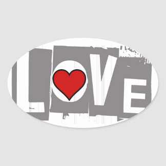 All You Need is Love Is all You Need Oval Sticker