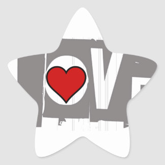 All You Need is Love Is all You Need Star Sticker