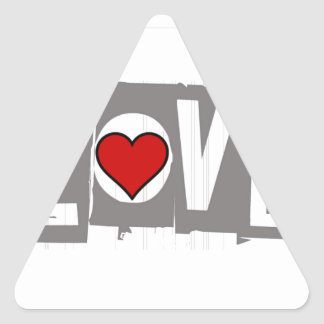 All You Need is Love Is all You Need Triangle Sticker