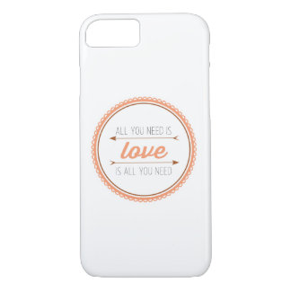 All you need is love | mango and copper iPhone 7 case