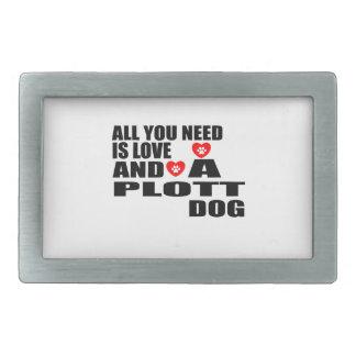ALL YOU NEED IS LOVE PLOTT DOGS DESIGNS BELT BUCKLE